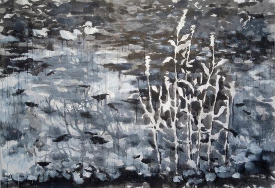 池塘和三隻鴨子
